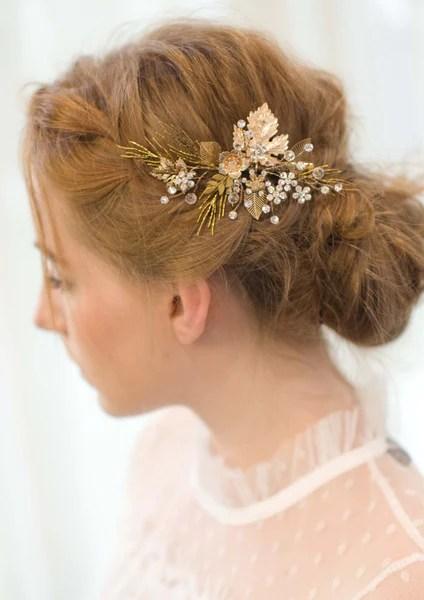gold bridal hair pin sissily
