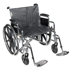 Bariatric Transport Chair 500 Lbs Lazy Boy Leather Extra Wide Wheelchair With 1 Year Warranty