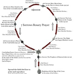 How To Pray The Rosary Diagram Rockford Fosgate P3 12 Wiring Seven Sorrows Of Mary 7