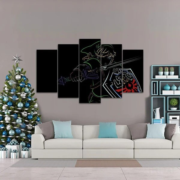 Fade To Black Link  5 Piece Canvas Painting  Empire Prints