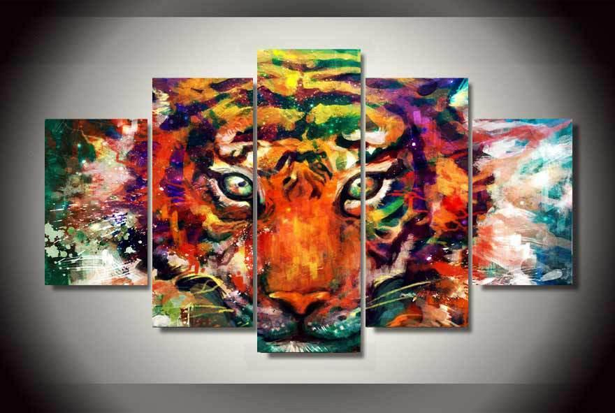 Abstract Tiger Painting