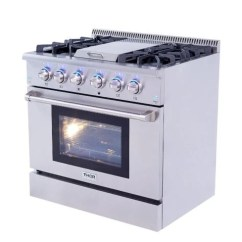 Kitchen Ranges Gas 5 Piece Table Set 36 Thor Pro Stainless Steel Convection 2 Cu Ft Oven Range