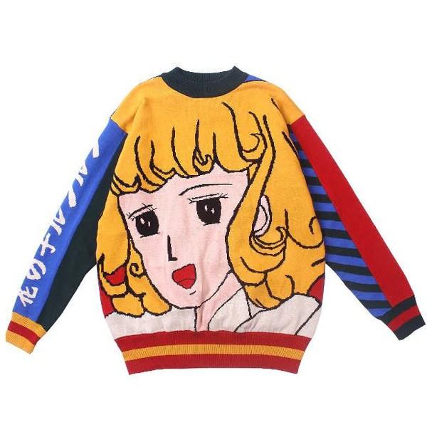 old school anime sweater