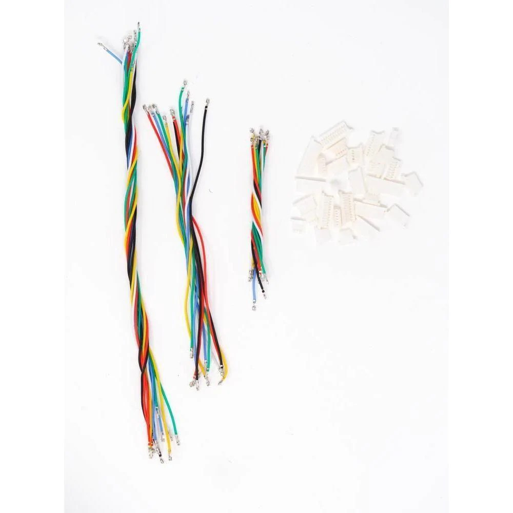 rdq sh 1 0 silicone cable set custom wire harness kit for flight con phaser fpv [ 1000 x 1000 Pixel ]
