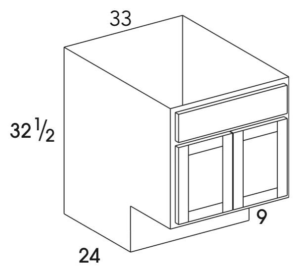 sb33ada berwyn opal ada sink base cabinet butt doors special order