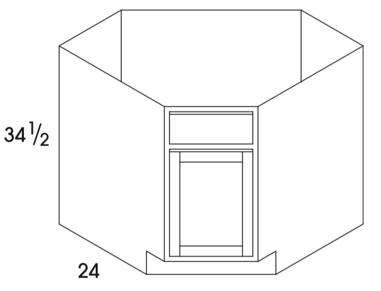 scb42 dartmouth white corner sink base single door