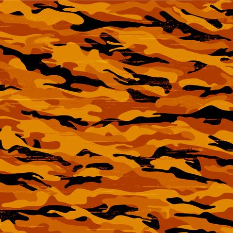 Camo Orange and Black  Pattern Craft Vinyl and Heat