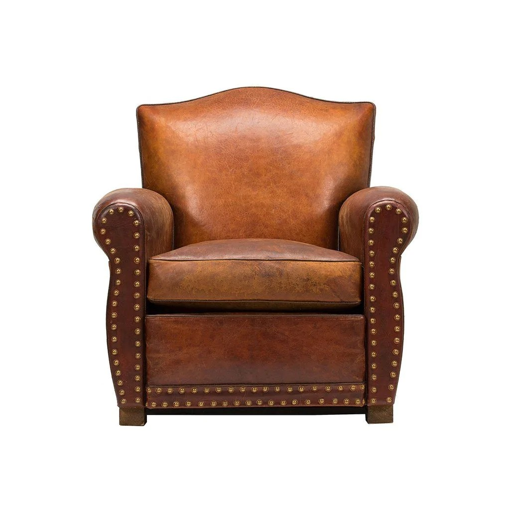 Vintage French Club Chair  Will Leather Goods