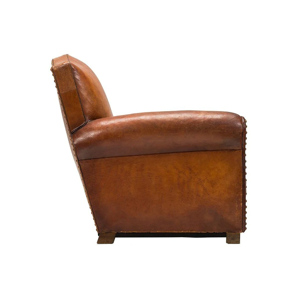Wood Club Chair Vintage French Club Chair