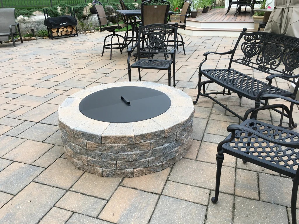 Metal Fire Pit Covers PiTTopperTM Fire Pit Covers Made