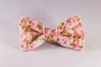 Champagne Pop Pink and Gold Polka Dot Dog Bow Tie ...