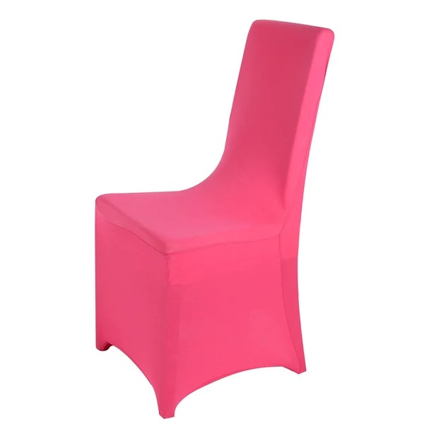 light pink spandex chair covers rocking sale wedding wholesale folding banquet stretch cover fuchsia