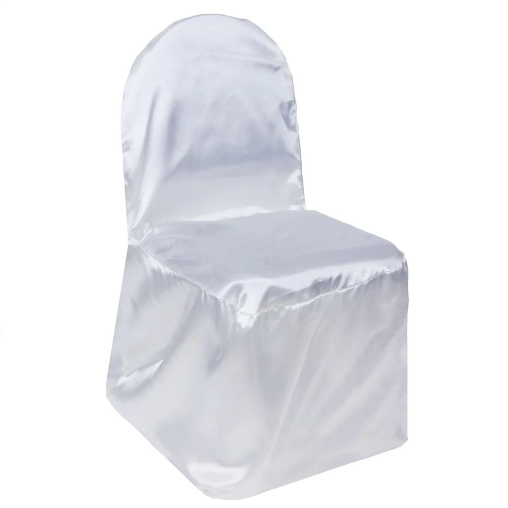 Your Chair Covers White Satin Banquet Chair Cover