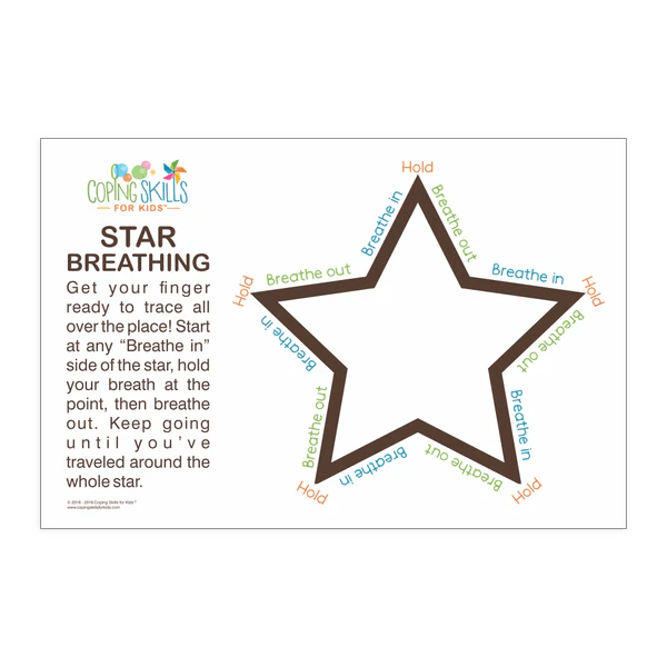 Deep Breathing Star Poster – Coping Skills For Kids