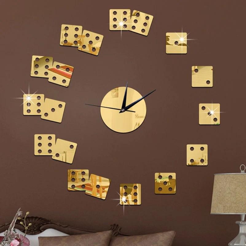 Dice The Living Room Wall Clock  Zone Nova