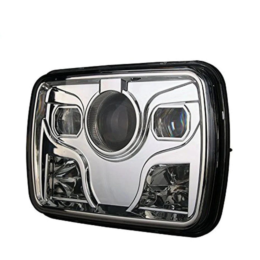 hight resolution of square headlights 7x6 5x7 inch diamond projector led headlights pair