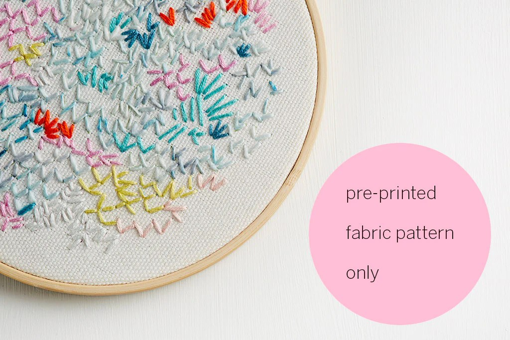 pre printed fabric embroidery