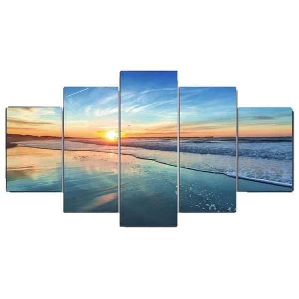 5 panel sunset beach