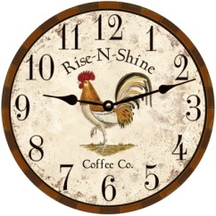 Kitchen Clocks Hotels In Nyc With Kitchens Rooster Clock Wall Country