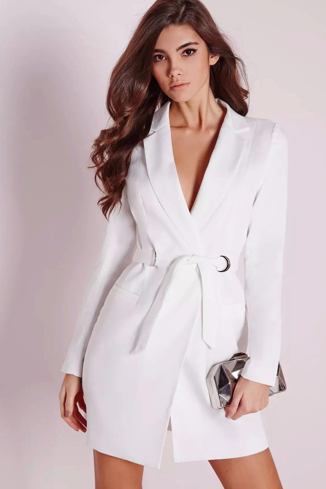 Bianca White Blazer Dress Smart Wild