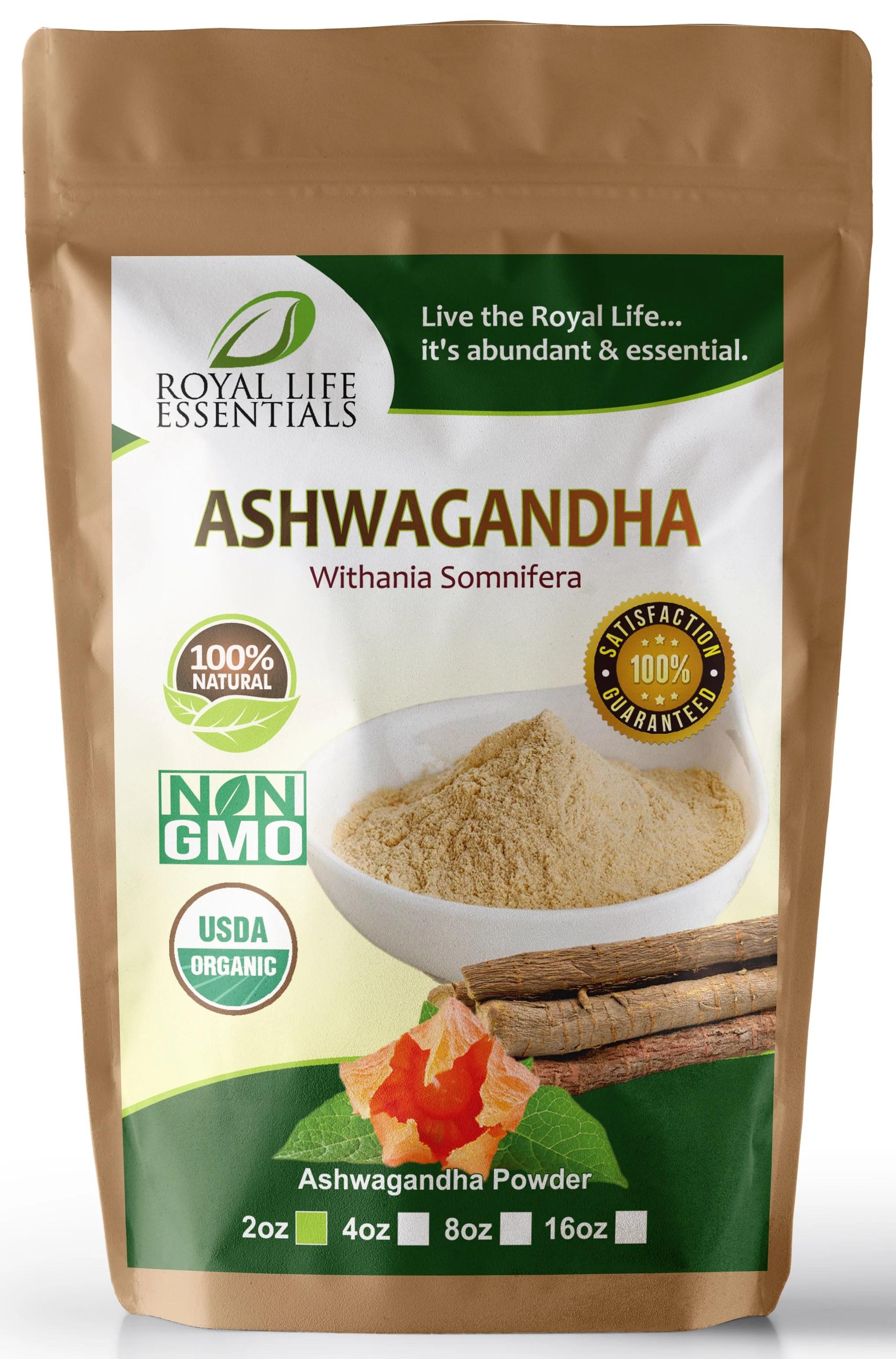 Organic Ashwagandha Root Powder - Natural Raw Boost Energy ...