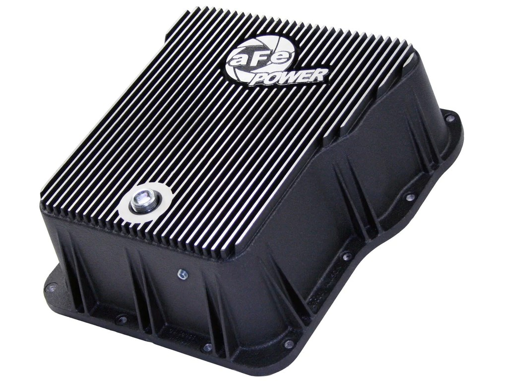 small resolution of 01 16 duramax afe transmission pan machined fins head 2 head performance