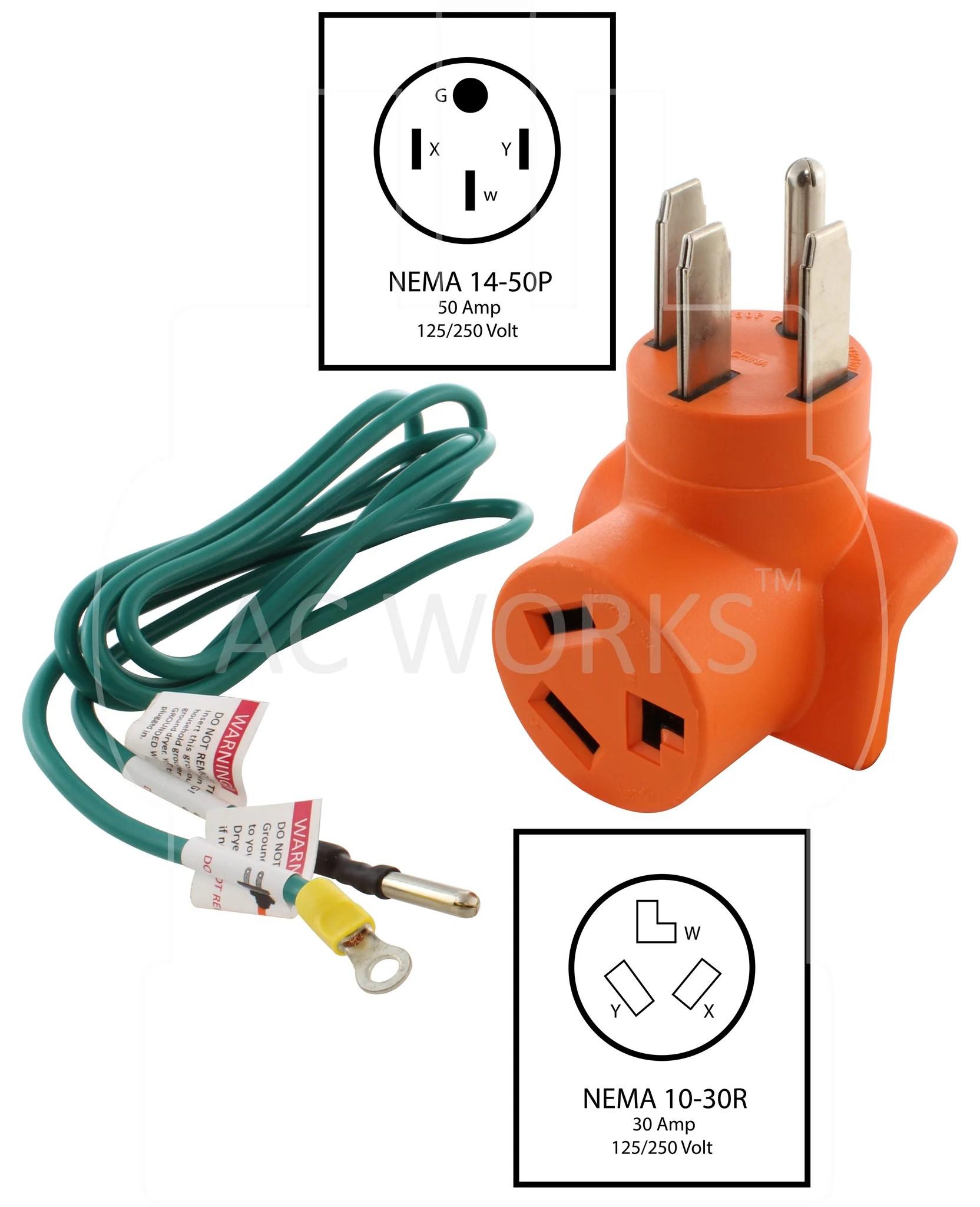 small resolution of  nema 14 50p to nema 10 30r 1450 to 1030 range outlet