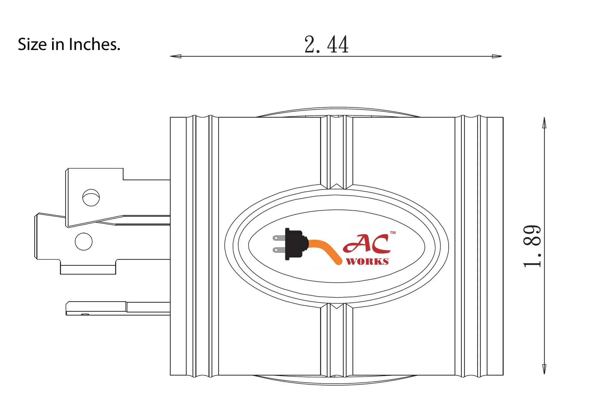small resolution of  ac connectors ac works adl530l520 3 prong locking plug nema l5