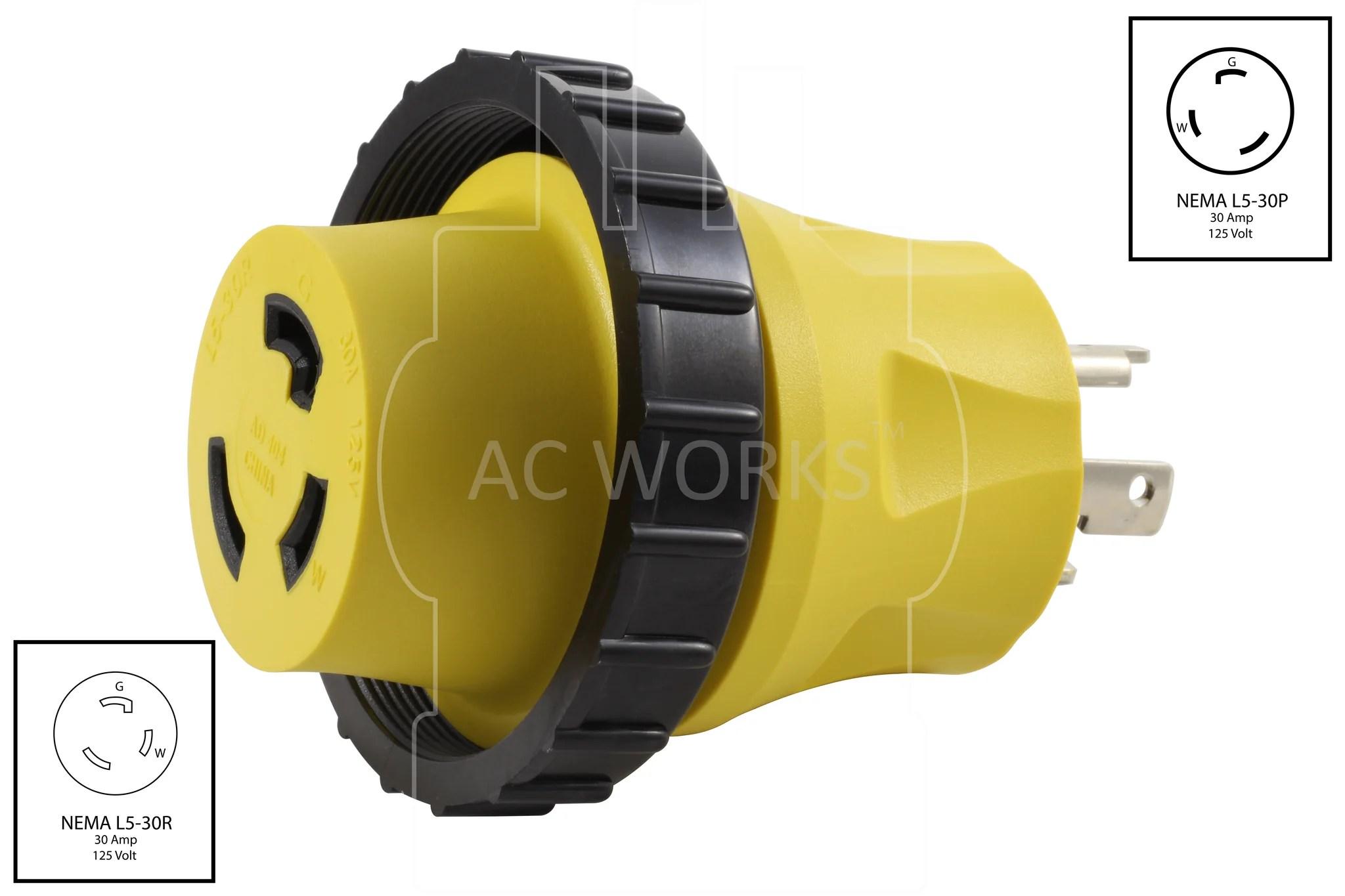 small resolution of l5 30p wiring ac plug wiring diagrams ac works rv marine adapter 30a locking plug