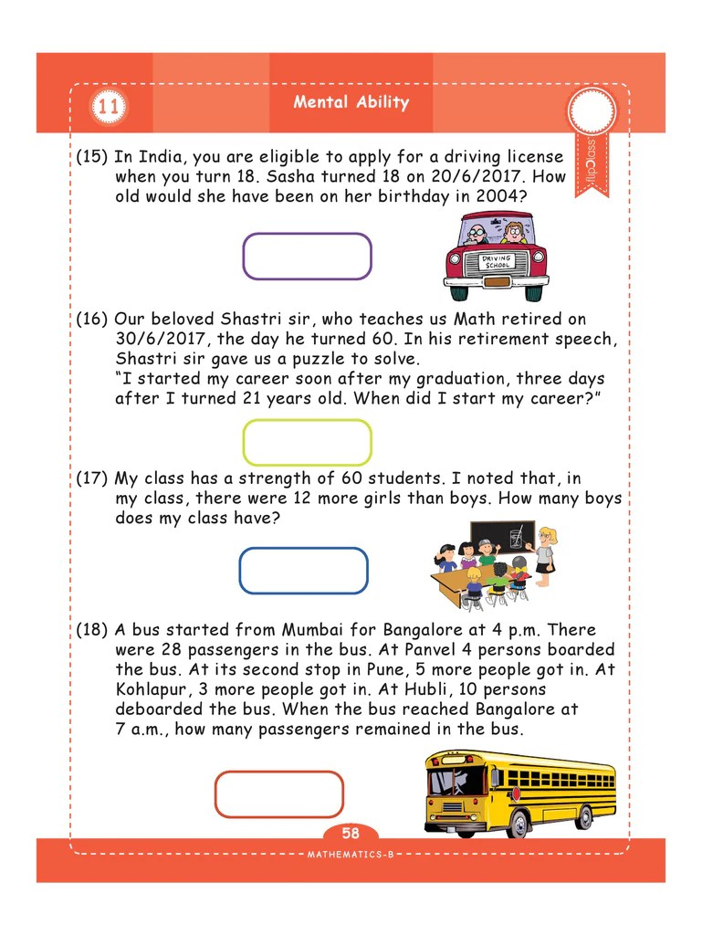hight resolution of Genius Kids Worksheets for Class 4 (4th Grade)   Math