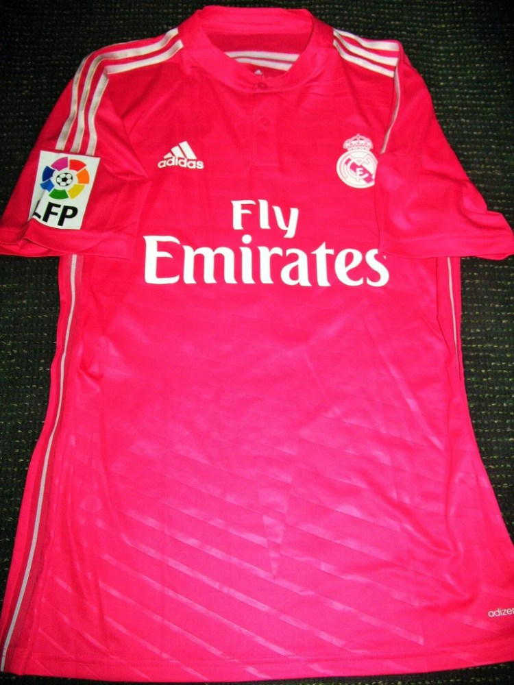 Bale Real Madrid 2014 2015 Pink MATCH WORN Jersey Shirt ...