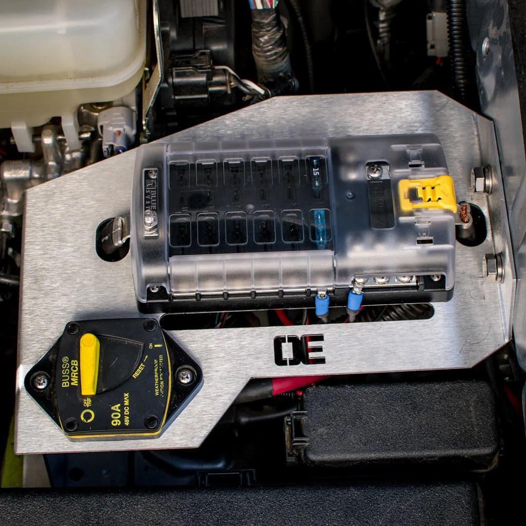 medium resolution of auxiliary fuse block bracket spod mount for toyota fj cruisers