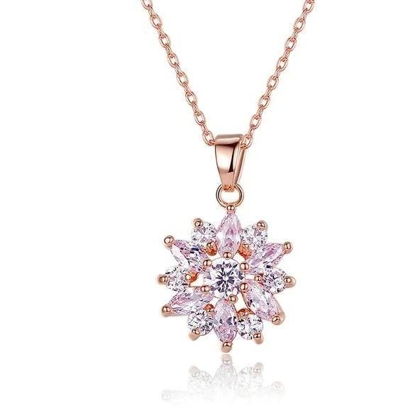 gold flower necklace pendants