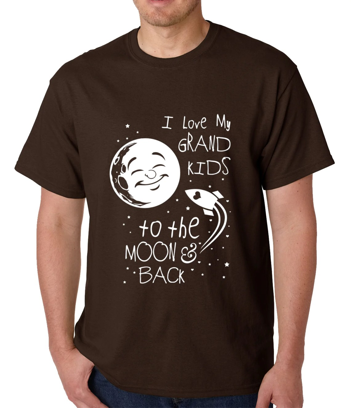 Download I Love My GrandKids to the Moon and Back Mens T-shirt - Bewild