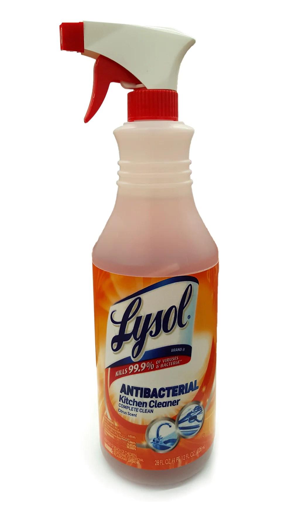 lysol antibacterial kitchen cleaner plate sets spray diversion safe working bottle
