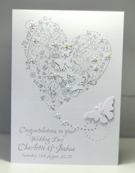 personalised wedding day heart