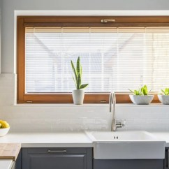 Grey Kitchen Blinds The Fat Burning Using Window To Add Colour Your Hut Are Red Appropriate