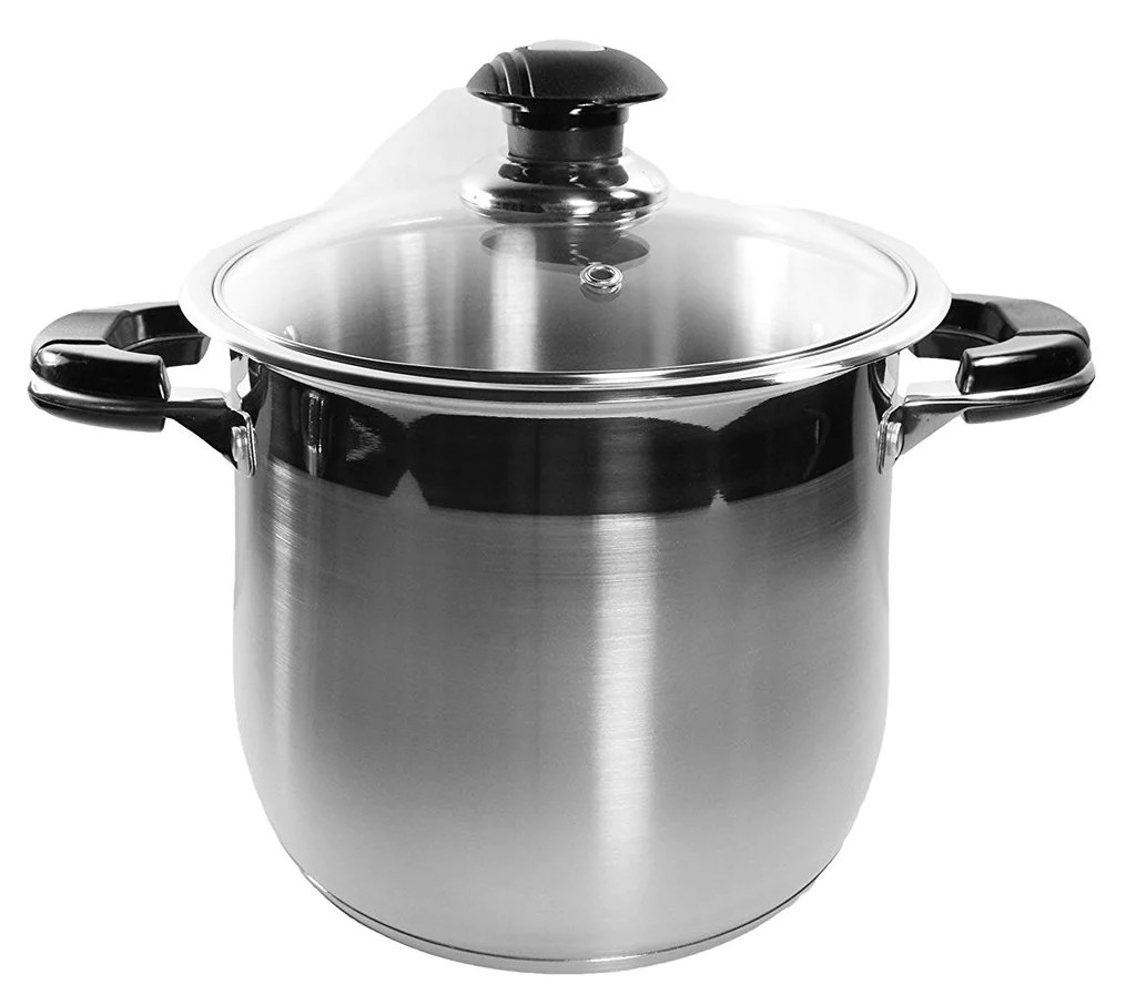 10 Qt Stock Pot 18 Stainless Steel Super Double Capsulated Bottom Kitchen & Restaurant