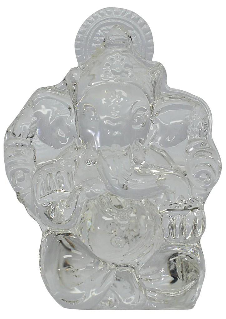 crystal ganesh idol small