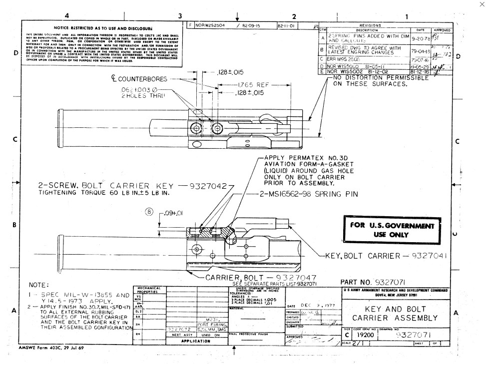 ar 15 lower diagram mazda 6 wiring 2004 canadian national arms cna bolt carrier group (5.56) (phosphate) – true north corp.