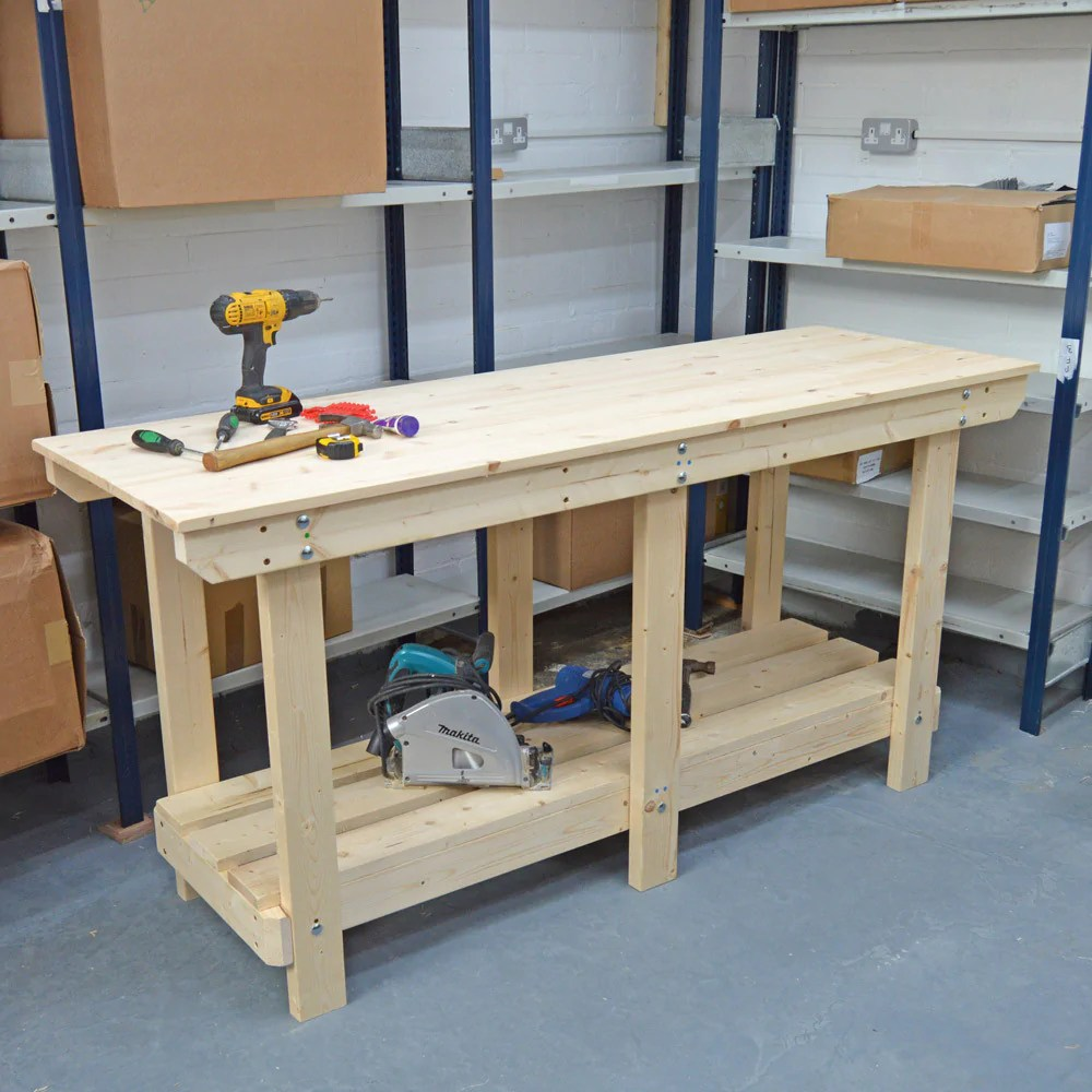 Heavy Duty Wooden Work Bench
