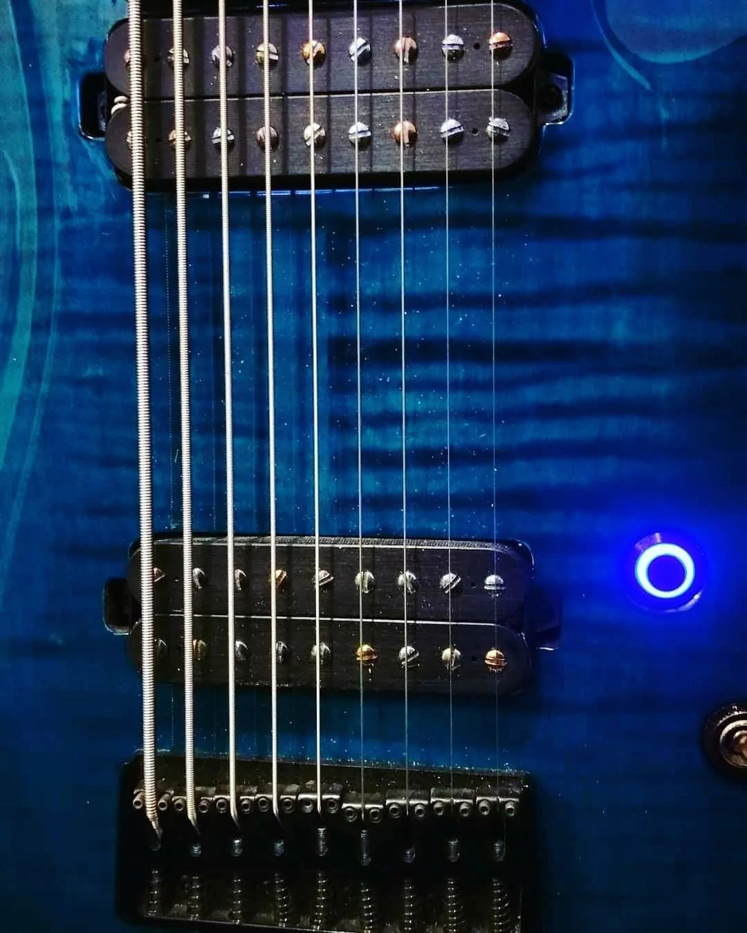 hight resolution of black stealth led guitar killswitch