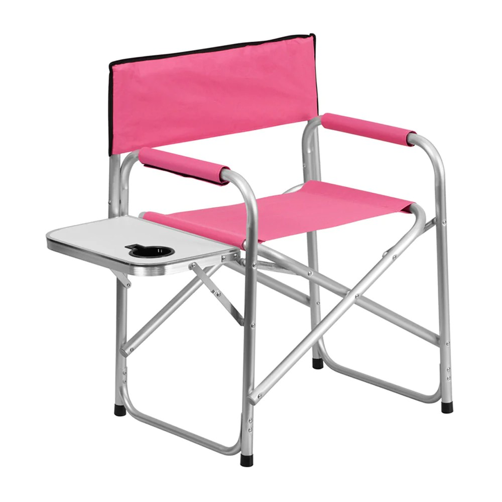 Aluminum Folding Chair Flash Furniture Aluminum Folding Camping Chair With Table And Drink Holder In Pink