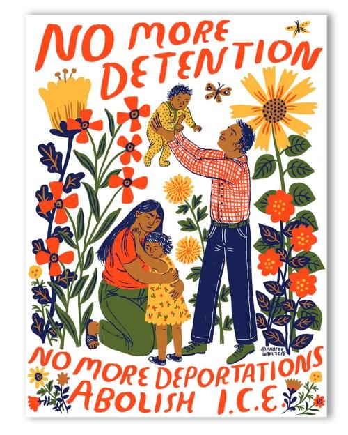 Protest Poster - Abolish I.C.E. - Phoebe Wahl