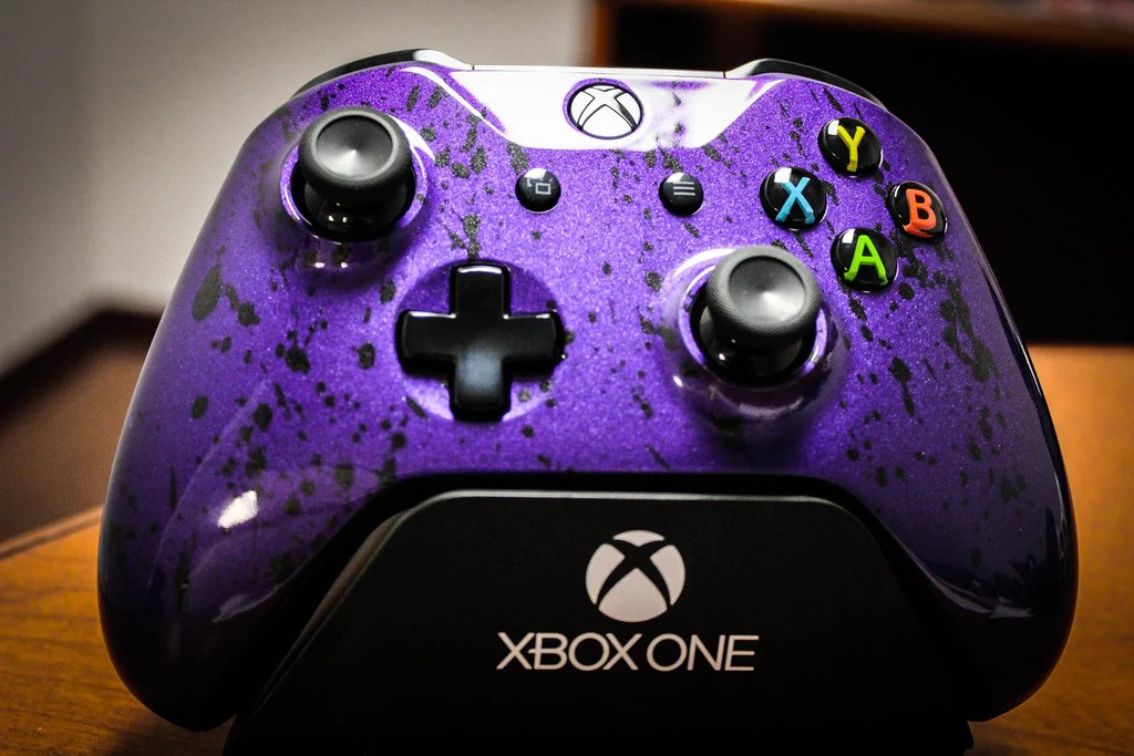 Xbox One S Controller Metallic Purple The Game And