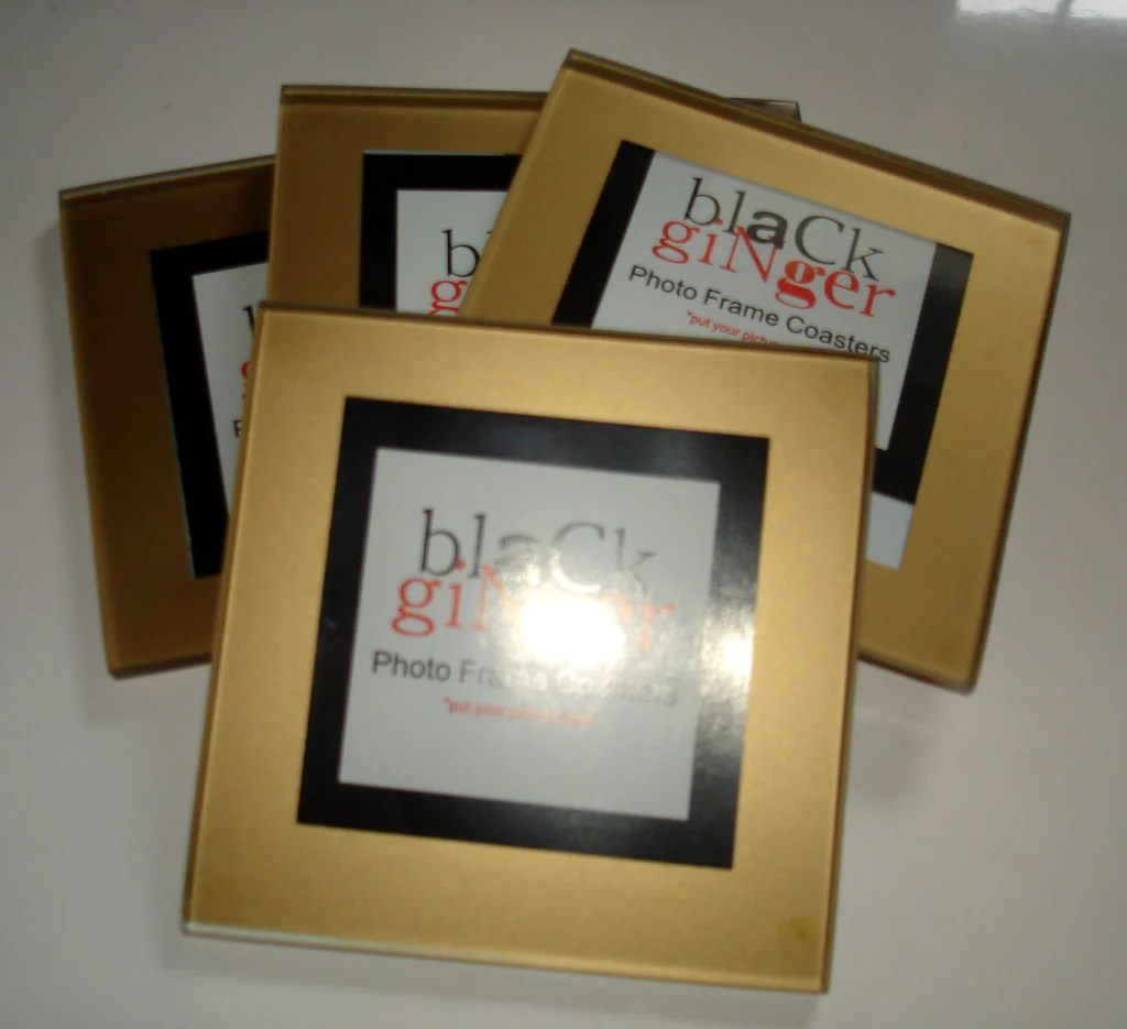 Gold Frame Coasters - Set Of 4