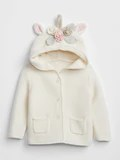 GAP UNICORN GARTER HOODIE SWEATER