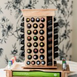Essential Oil Wooden Rotating Display Oil Life