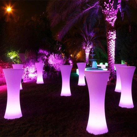 LED Illuminated Cocktail Table For Party  Event Hire  LU