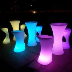 Led Table And Chairs Walmart Kids Chair Illuminated Cocktail For Party Event Hire Lu Qing Wen